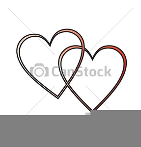 Two Hearts Joined Clipart.
