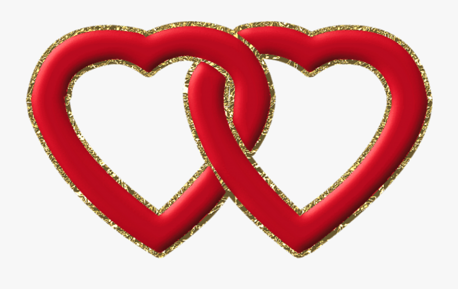 Transparent Two Hearts One Love Clipart.