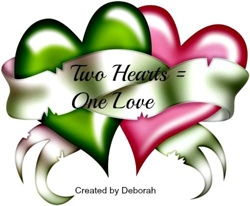 Two Hearts = One Love ….