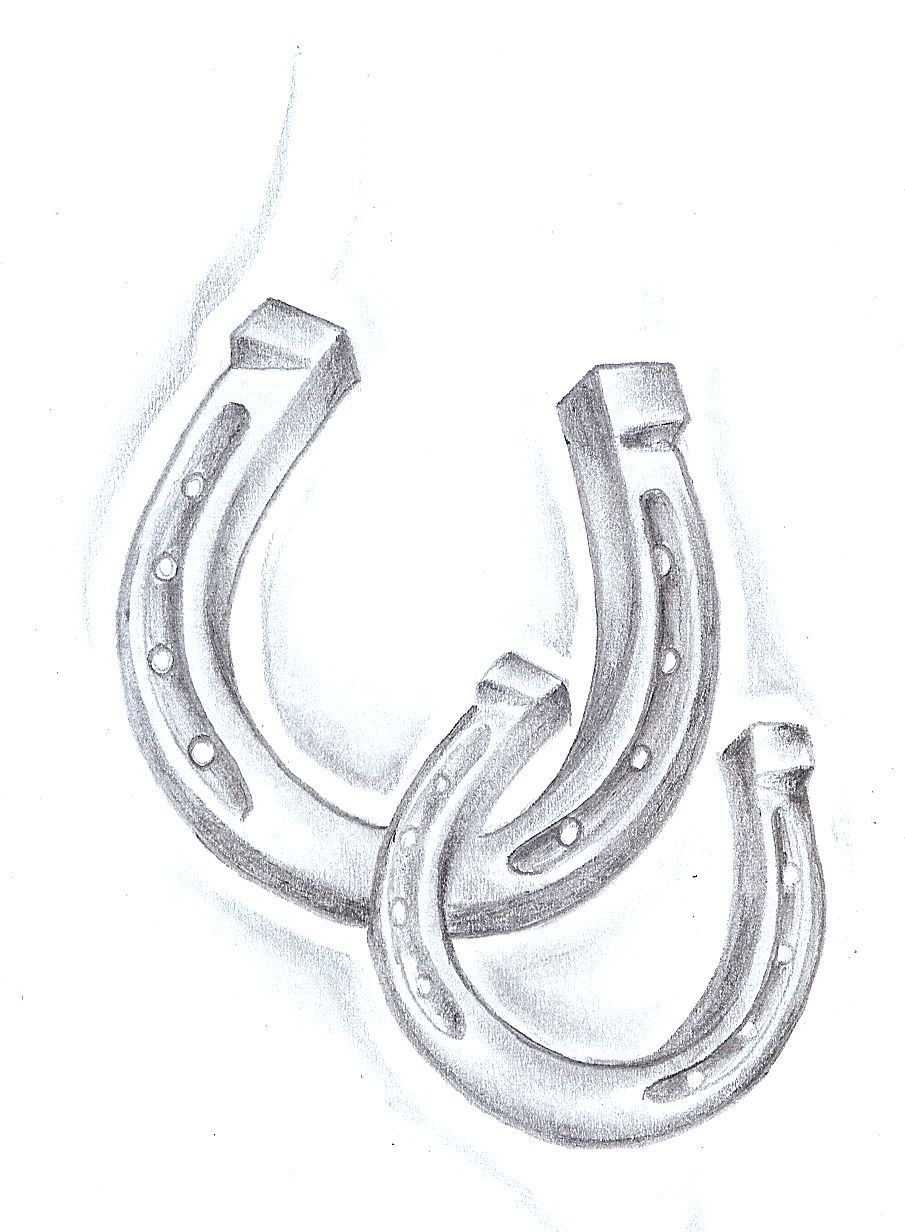 Definitely love this shaded style if horse shoe for a tattoo.