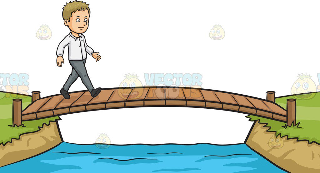 Over The Bridge Clipart.