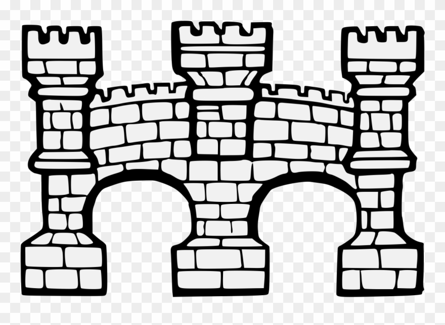 Bridge Throughout Of Two Arches § Clipart (#3009617.