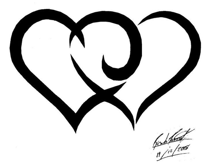 Heart Double Heart Tattoo Ideas Heart Tattoos Cute Heart.