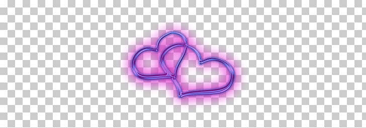 Two Attached Hearts, two purple heart art PNG clipart.