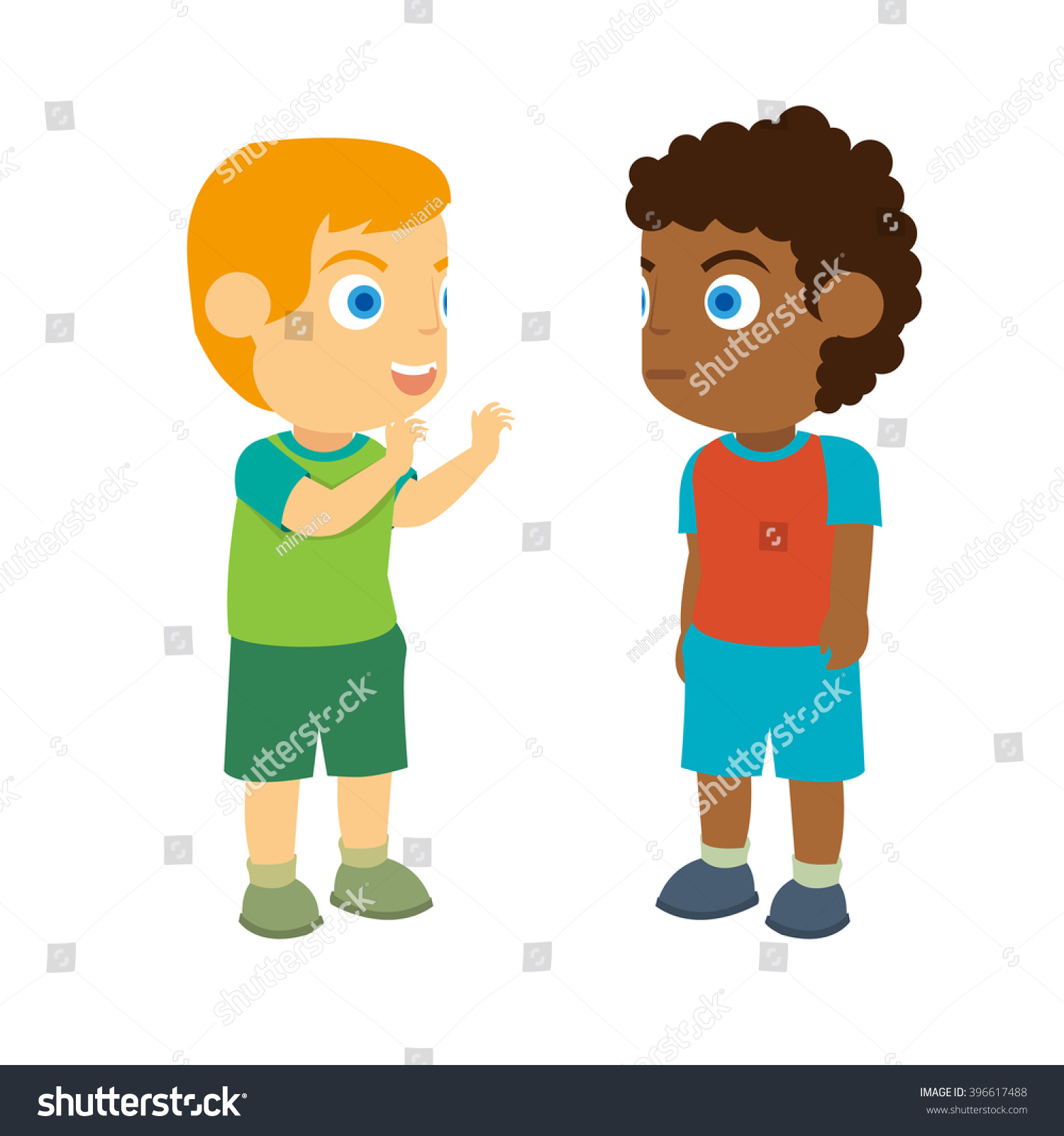 Two children talking clipart 11 » Clipart Station.