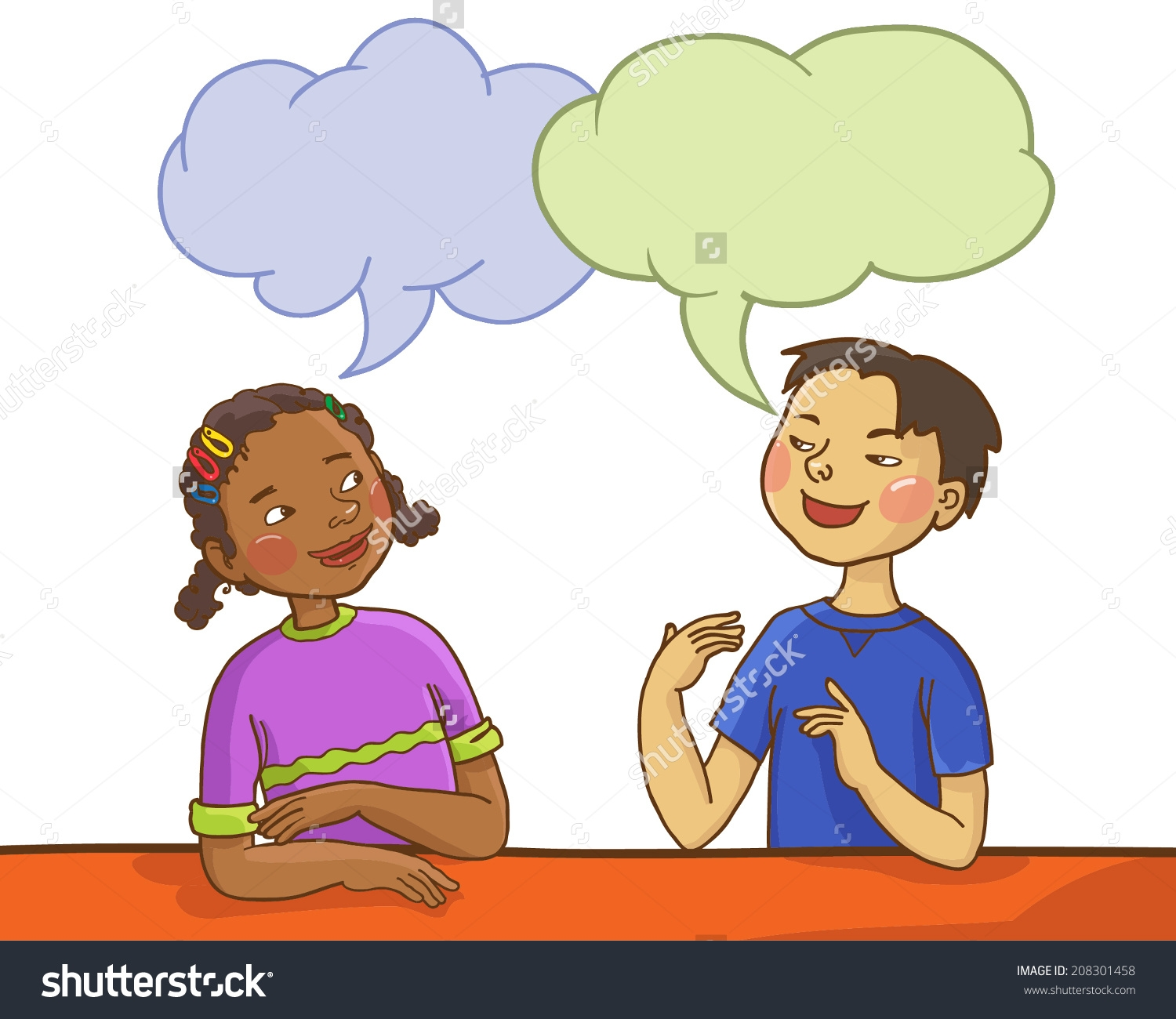 Two children talking clipart 12 » Clipart Station.