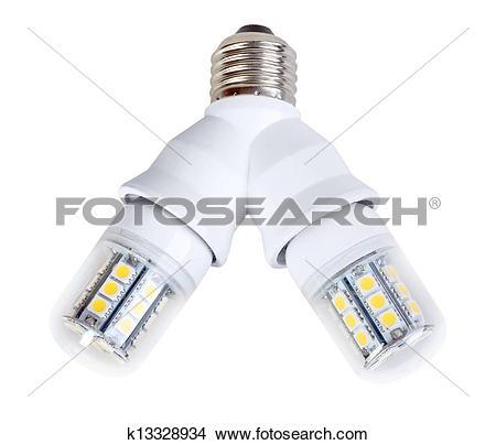 Stock Photo of Two lamps in splitter k13328934.
