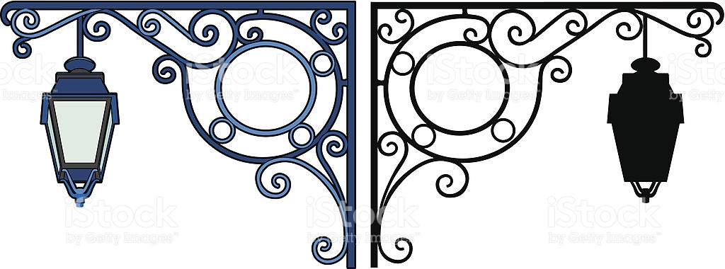 Two Lamps stock vector art 452040563.