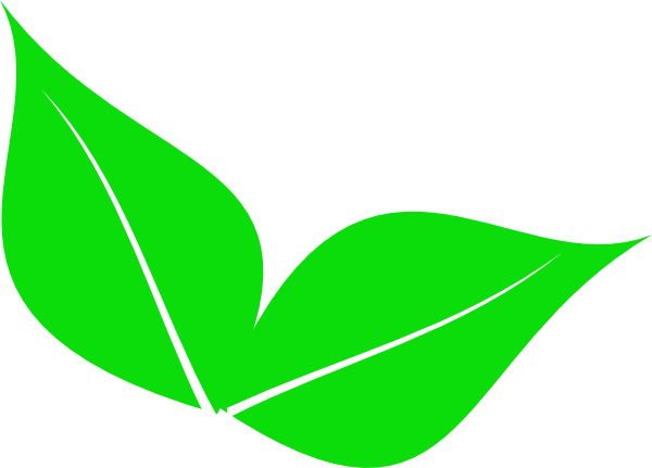 Two Leaves Clip Art at Clker.com.