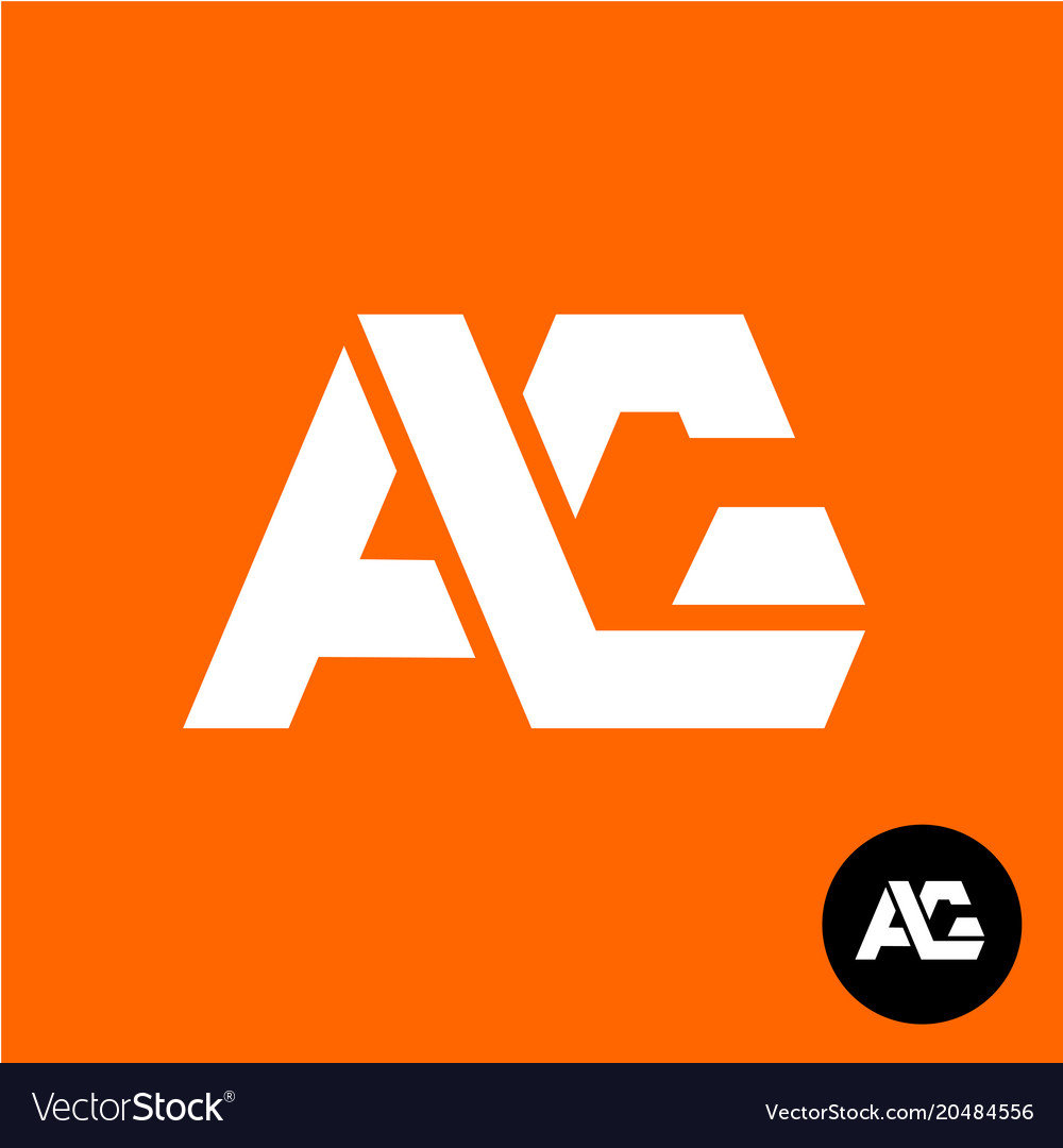 Letters a and g ligature logo two letters ag sign.