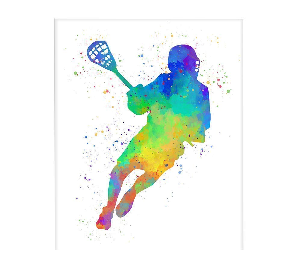 Amazon.com: Lacrosse Player Sport Abstract Wall Art 8\