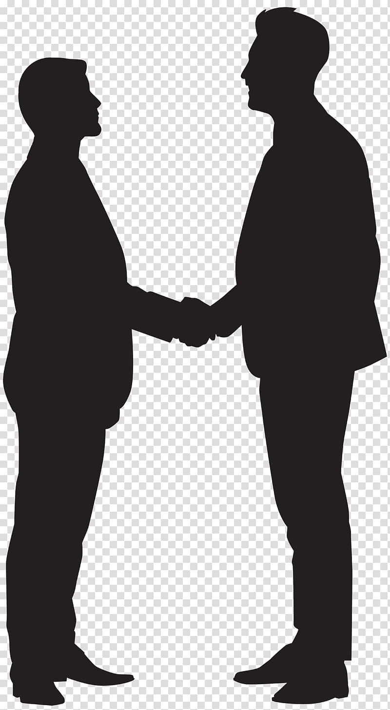 Two man shaking hand , Silhouette Handshake , Men Shaking.