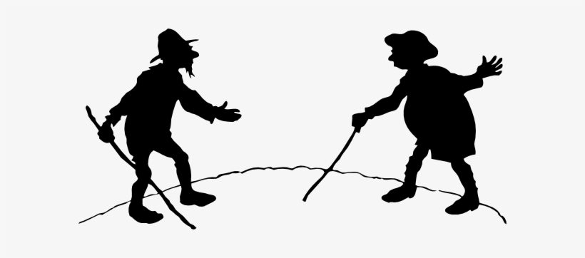 Free Vector Two Men With Canes Clip Art.