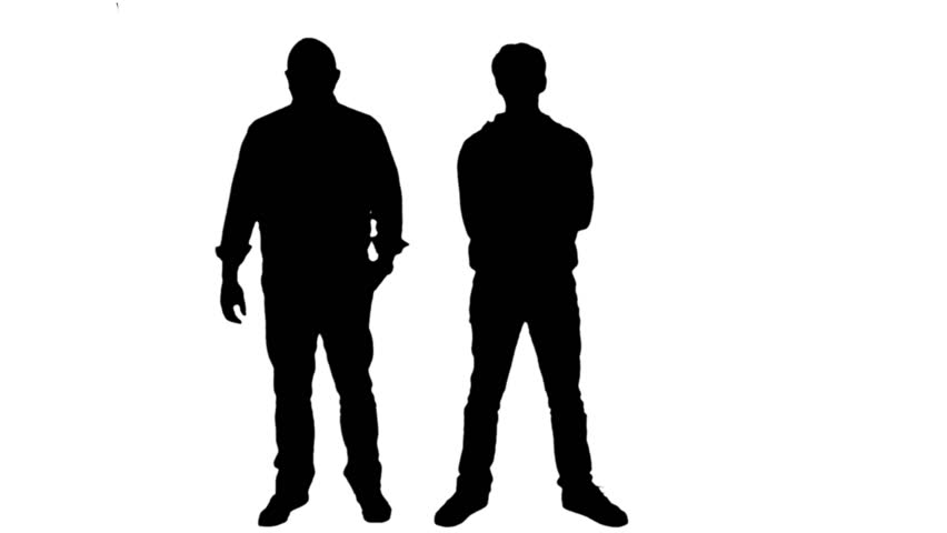 Two Man Silhouette.