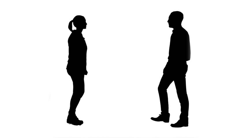 Two People Silhouette.