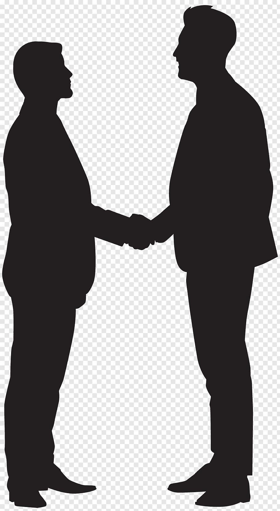 Two man shaking hand, Silhouette Handshake, Men Shaking.