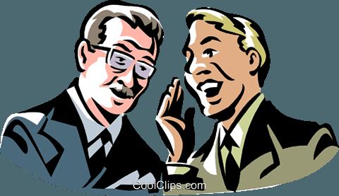 two men talking Royalty Free Vector Clip Art illustration.