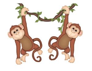 Two Monkeys Clipart.