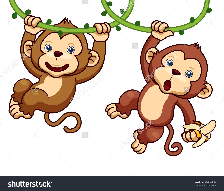 Monkey Cartoon Stock.