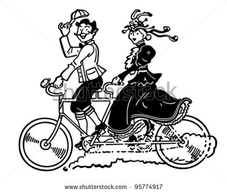Bicycle Built for Two Images.