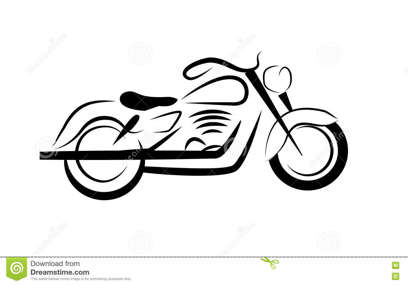Motor Bike Flat Illustration Stock Vector.