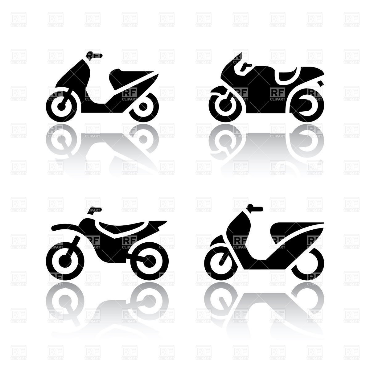 Motorcycle Motor Clipart.