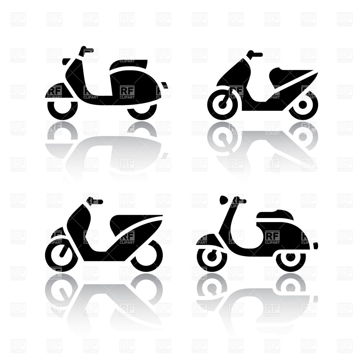 Motorbike, motor scooter and moped.