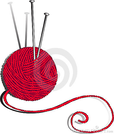 Red Ball Of Yarn Clipart.