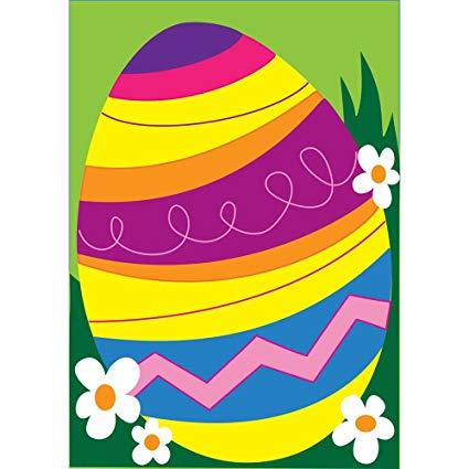 Amazon.com : Decorated Multi Colored Easter Egg 18 x 13.