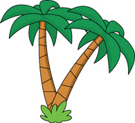 Two Palm Trees Clipart.