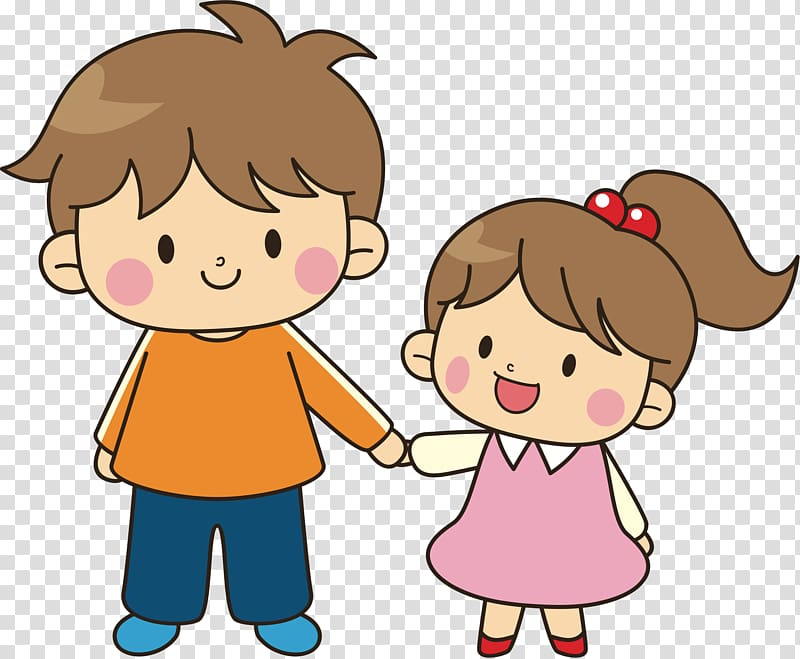 Boy holding girl illustration, Brother Sibling Sister.