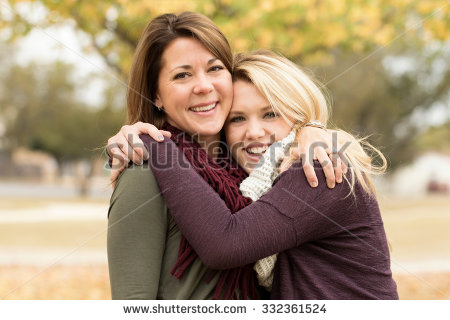 Mother And Daughter Hug Stock Images, Royalty.