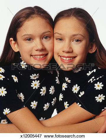 Picture of Two teenage twin sisters (13.