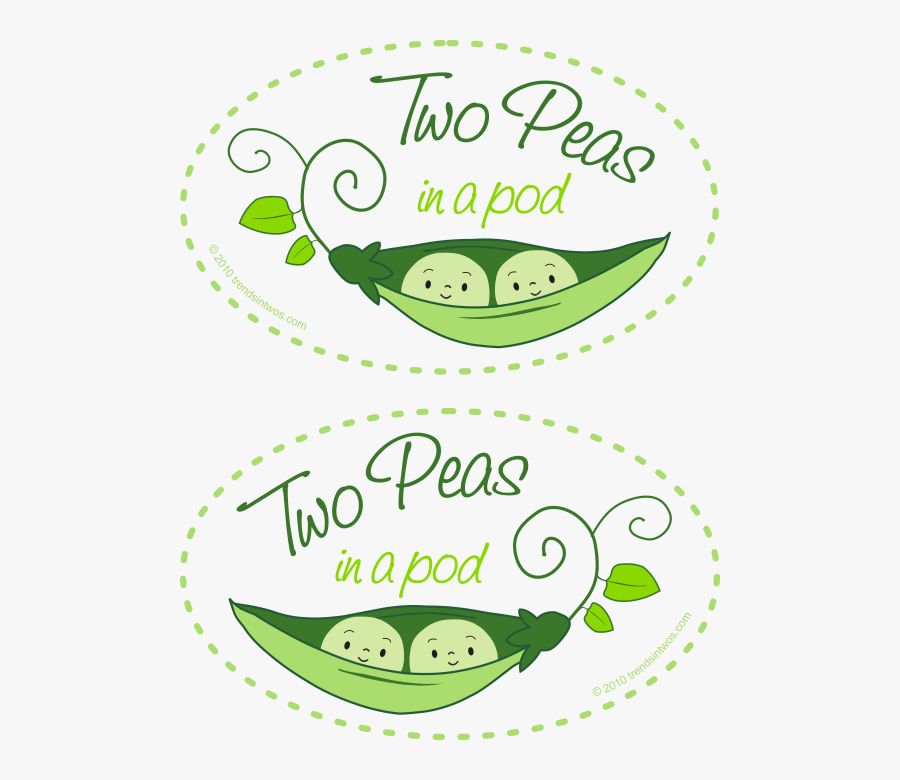 Two Peas In A Pod Twins , Free Transparent Clipart.