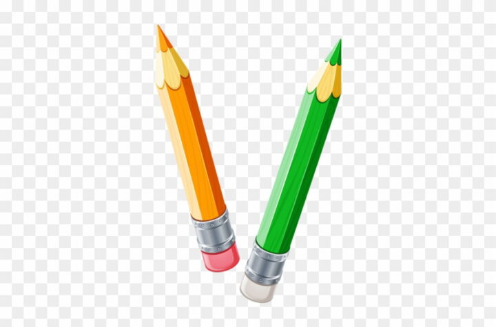Pencil Clipart Four Two Pencils Clipart Image Provided.