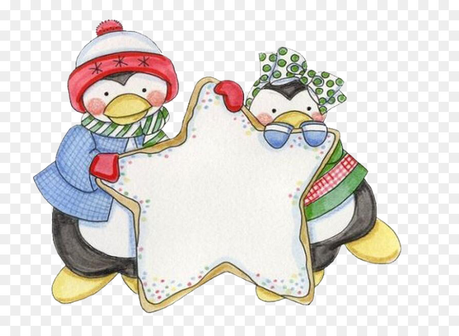 Penguin Decoupage Clip art.