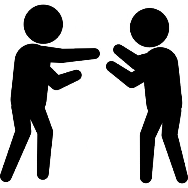 Two People Fighting Clipart.
