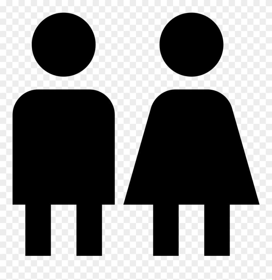 There Is A Simplified Drawing Of Two People Holding Clipart.