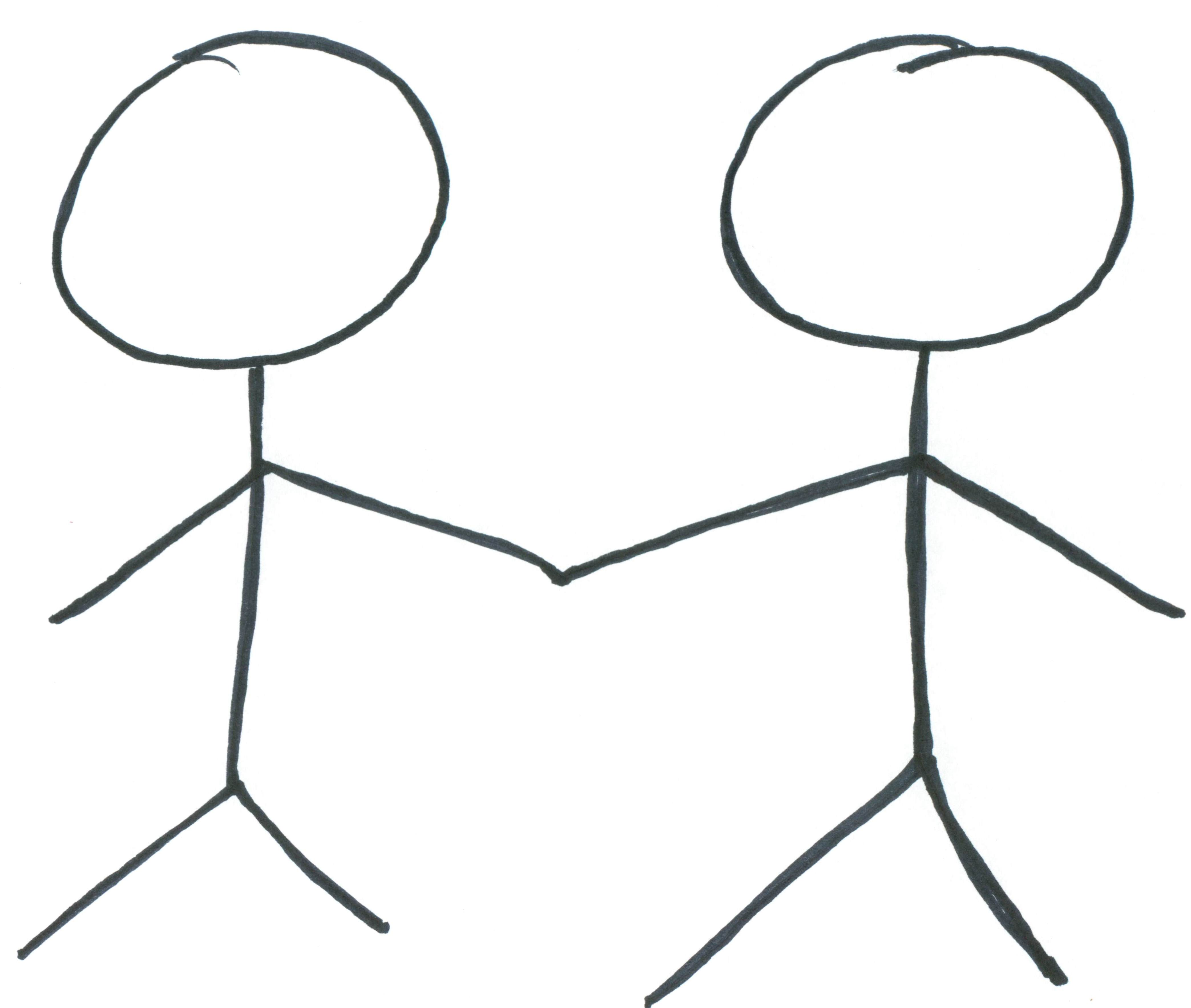 Two People Holding Hands Clipart.