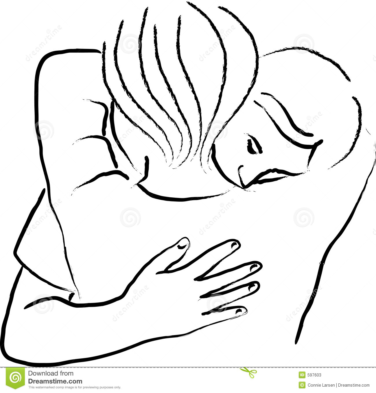 People Hugging Clipart.