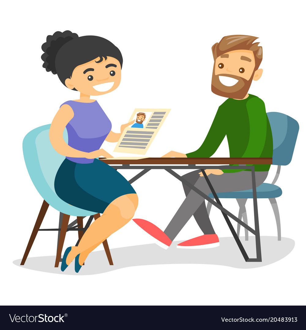 Two People Meeting Clipart.