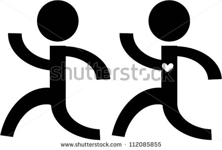 Stick Man Running Stock Images, Royalty.