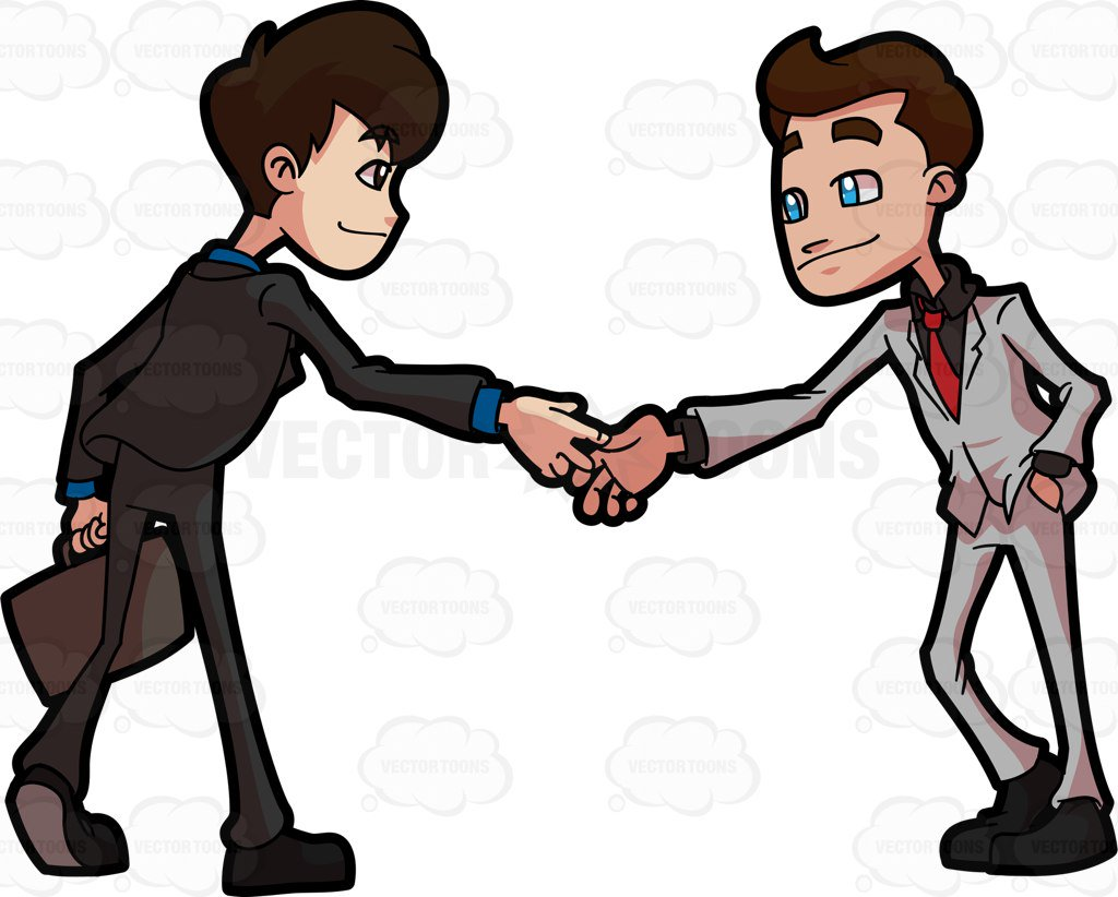 Two people shaking hands clipart 3 » Clipart Station.