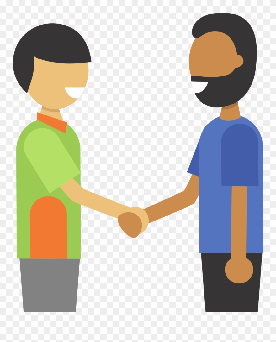 Illustration Of Two People Shaking Hands.