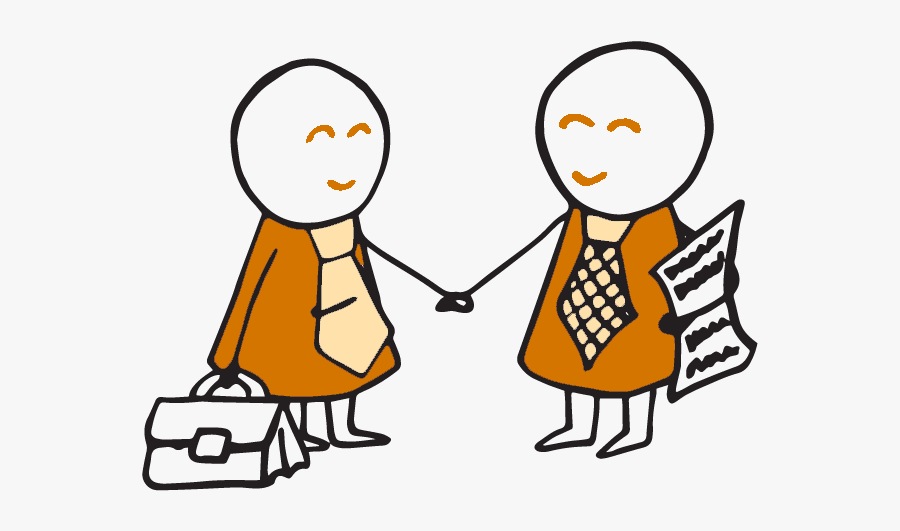 Two People Shaking Hands Cartoon , Free Transparent Clipart.