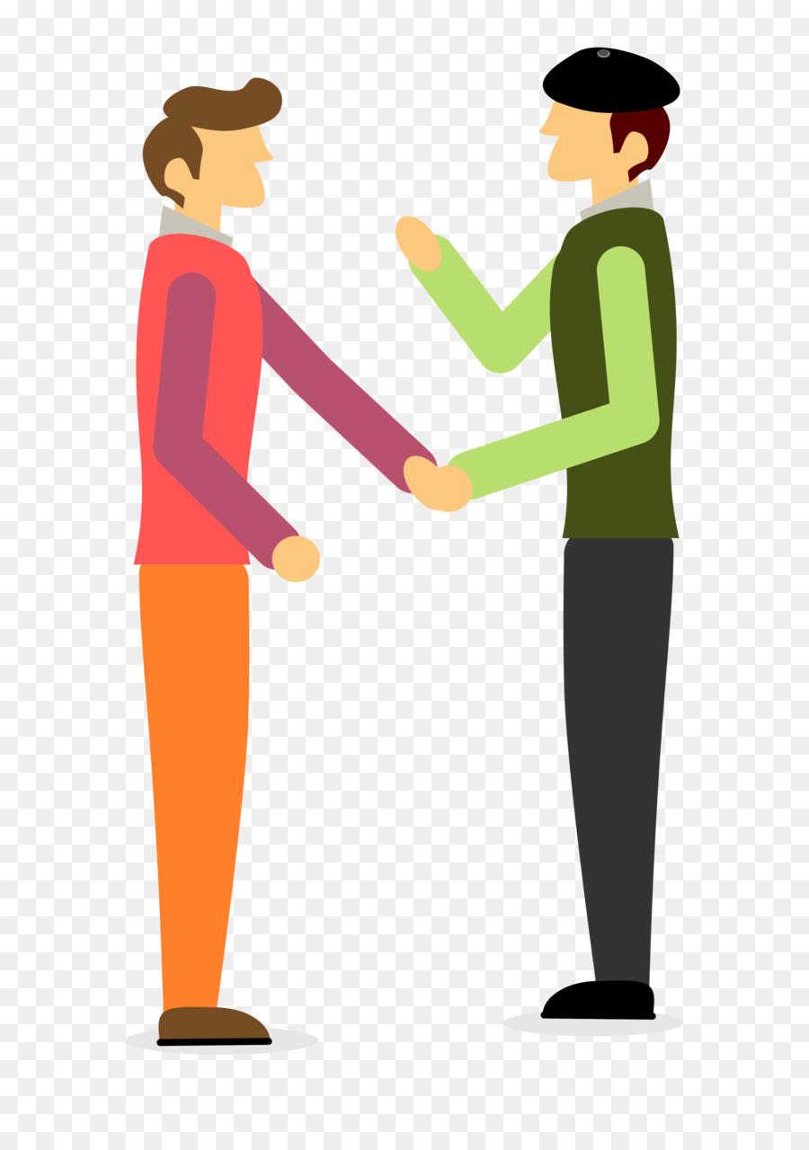 Two Men Talking Clip Art.