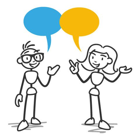 Two People Talking Clipart 15.