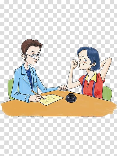 Two people talking transparent background PNG clipart.