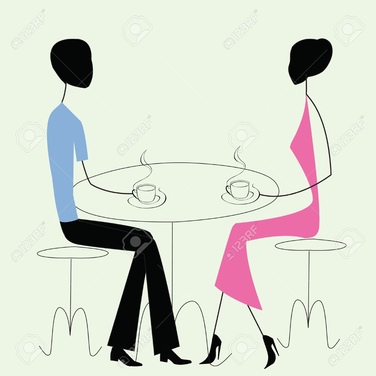 2,664 Two People Talking Cliparts, Stock Vector And Royalty Free.