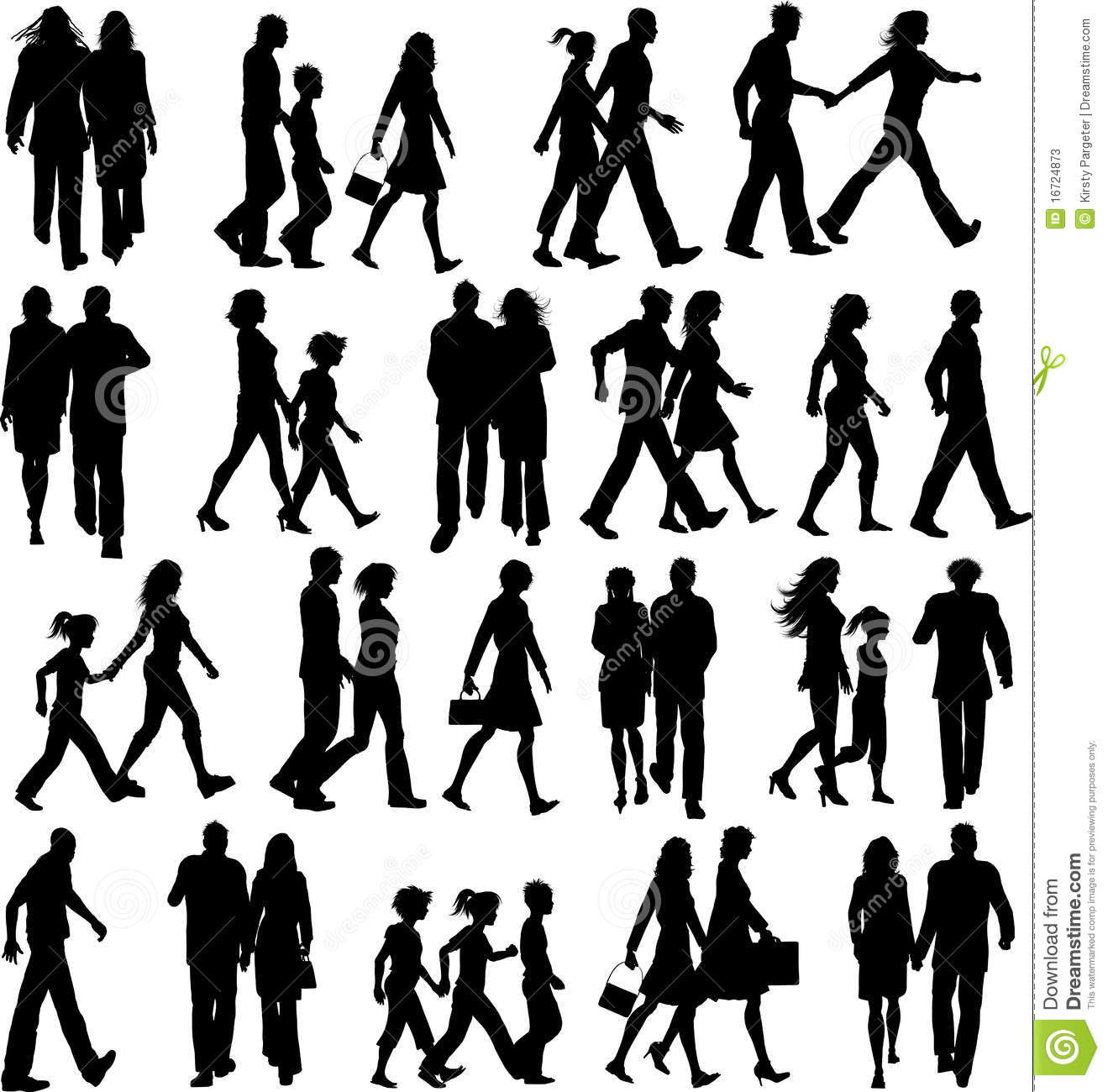 Walk Together Clipart.